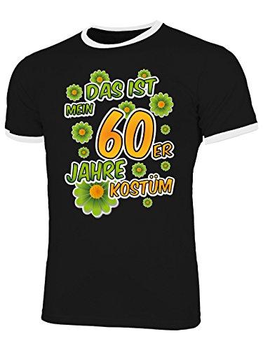 60er Jahre Paar 70er Kostüm - 60er Jahre Kostüm Herren T Shirt Motto Schlager Party Karneval Fasching Verkleidung Schlagerkleidung Mottoparty Paar Deko Disco Weste Hut