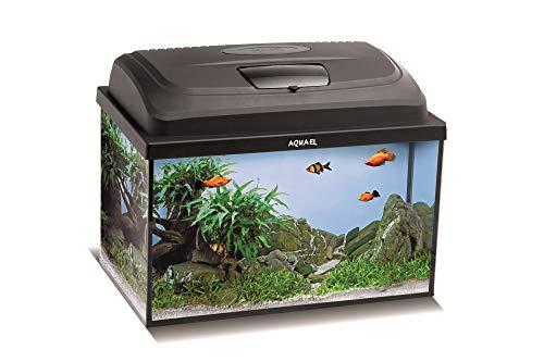 Aquael Aquarium Set Classic LT inkl. Abdeckung, Filter, Heizer, LED Beleuchtung (40x25x25 rechteckig)