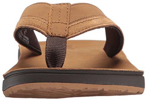 Reef Herren Leather Contoured CU Zehentrenner Braun (Tan Tan)