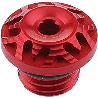 Homyl Tapa de Rosca de Aceite Cnc Para Ducati Monster 796 Modificacíon Duro - rojo