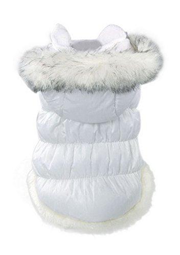 La-Vogue-Bianco-Cappotto-Caldo-Imbottito-Dog-Coat-Abbigliamento-Pets-Cane-Vestiti-Invernale-Costume-S