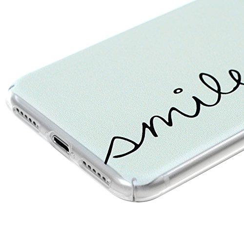 MAXFE.CO PC hülle für iPhone 7 Handyhülle Tasche Back Cover Etui Rück Schutzhülle Harte Kunststoff PC Phone Case Hüllen mit Handvoll Löwenzahn Design Grünen Farbverlauf der Liebe