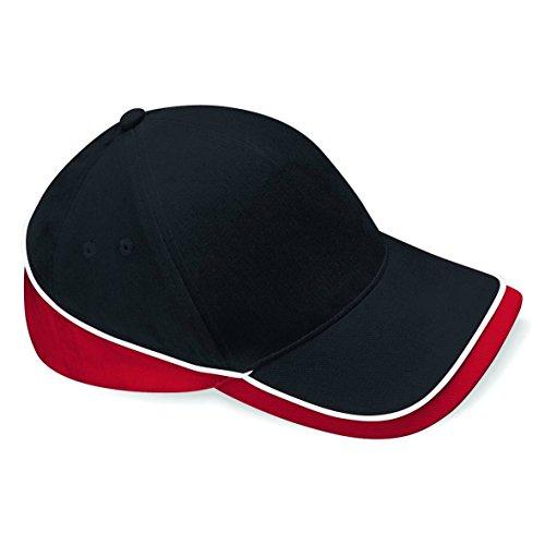Beechfiel - Casquette 100% coton - Adulte unisexe Black/Classic Red/White