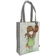 Borsa Shopping Bag Media Gorjuss The Fox Beige Verde - 290GJ06
