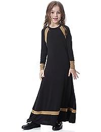 f30cc5fabc8b EMVANV Kinder Mädchen Kleid, mit Seide, ethnischer Stil Elastizität,  langärmelig, Kleidung,