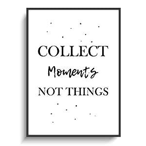 Design Schwarz Weiß Plakat DIN A4 Modern Moments ohne Rahmen Motivation Deko Wohnung Zuhause Büro Haus Wohnen Gastgeschenk Geburtstag Einzug Print