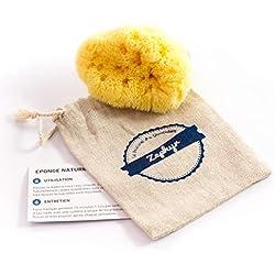 Eponge bébé Zephyr®, éponge de mer naturelle pour la toilette de bébé (5-8cm) - Eponge de bain végétale et lavable pour bébé