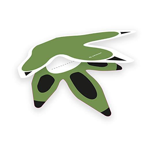 8 Tischkarten * FRÖHLICHE Dinos * für Kindergeburtstag und Motto-Party | Dinosaurier T-Rex Kralle Pfote Karte Namensschild Mottoparty Kinder Geburtstag Tisch Deko Dekoration (Geburtstag T-rex Karte)