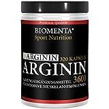 Biomenta L-arginina dose elevata - 3600 mg - 320 Capsule, 2-3 Spa del mese