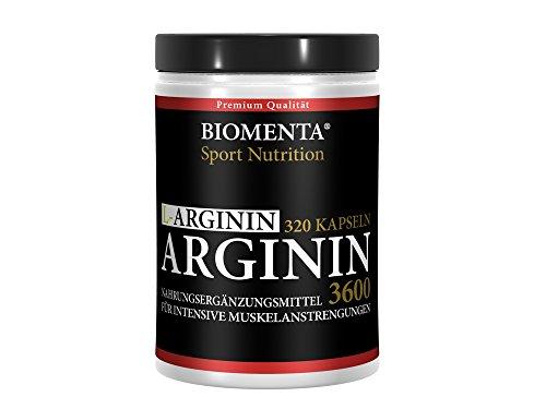 L-ARGININ 3600 HOCHDOSIERT - 320 Kapseln für ca. 4 MONATE – DEUTSCHE QUALITÄT - allergikergeeignet – OHNE ZUSÄTZE – (3.652 mg Tagesdosis) 913 mg L-Arginin-Pulver je Kapsel – Für aktive Frauen und Männer