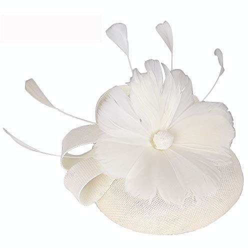 Dance Kostüm Company - SweetStyle Mi White Braut süße Blume Haarschmuck Dance Performance Company jährlichen Treffen Cocktail Hut