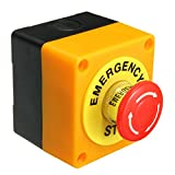 KUNSE Botón Pulsador Interruptor 1 No 1 NC 10A 660V Emergencia Stop Impermeable