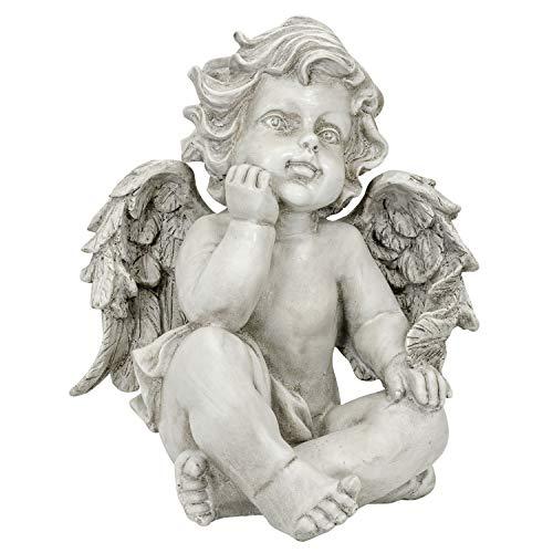 el Putte Engelsfigur Flügel Dekoration Garten Haus Antik-Stil 27cm ()