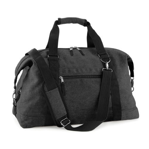 Reisetasche 'Vintage CANVAS Weekender', Farbe:Vintage Black Schwarz