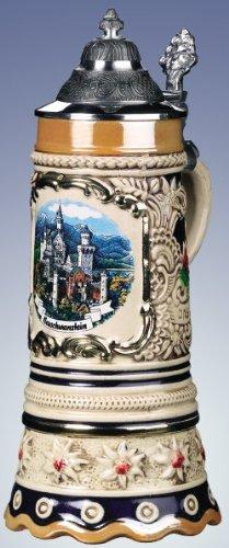 Zoeller & Born Edelweiss Musical Neuschwanstein German Beer Stein Handcrafted Germany New .5L -