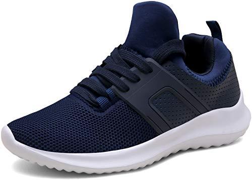 Vedaxin Donna Uomo Scarpe da Ginnastica Respirabile Sneakers Running Scarpe Sportive Corsa,XZ646A-blue-EU40