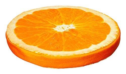 Früchtekissen Sitzkissen Stuhlkissen Kissen Auflage Ø ca. 40 cm 5 Fruchtmotive (Orange)