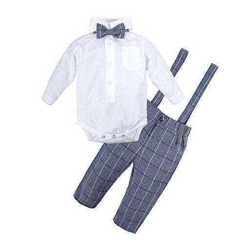BIG ELEPHANT Baby Jungen 2 Stück Hosen Shirt Kleidung Set mit Strapsen Q21-A