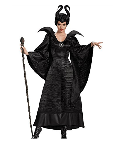 Simmia Halloween Kostüm,Schwarze Hexe Halloween Kostüm Bar Party Kostüm Show, schwarz, XL