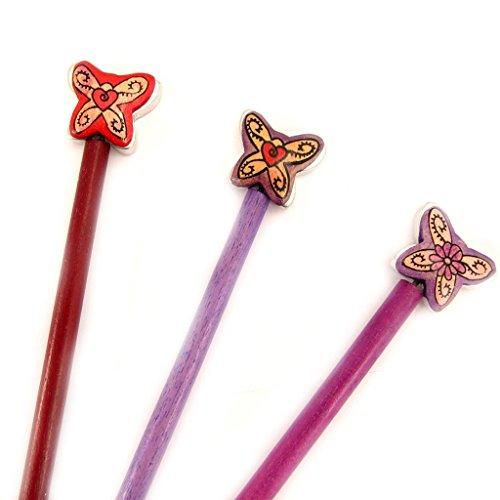 Les Trésors De Lily [L5039] - Set von 3 pins bun 'Papillons'