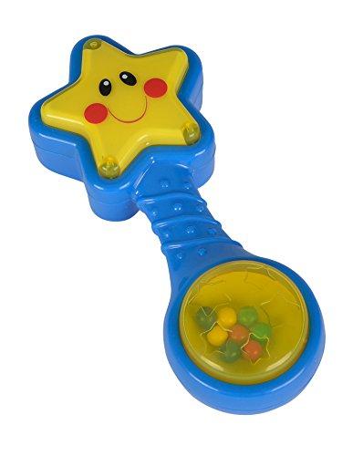 ABC - Sonajero Estrella con luz, Color Azul / Amarillo (Simba 4011931)