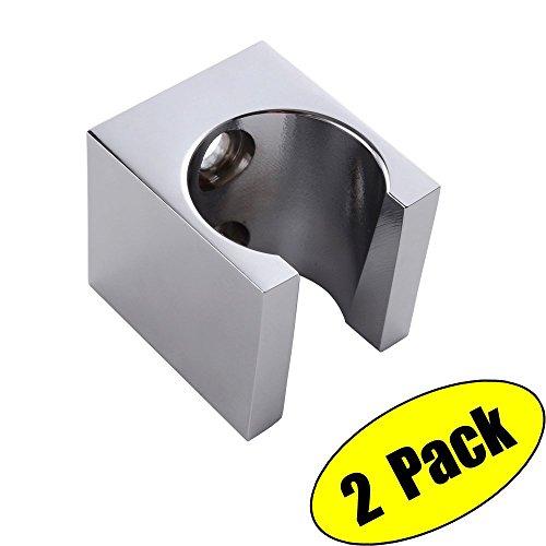 KES Alle Messing Handheld Duschkopf Brausehalter Halterung Wandhalterung für Bad Hand Sprüher Zauberstab oder Toilette Bidet 2 Pcs Pack, Poliert, C107-P2