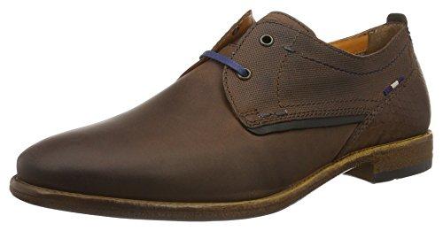 FRETZ men Robbie - zapatos con cordones de cuero hombre, color negro, talla 47 1/3