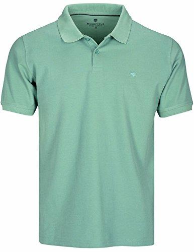 Basefield Herren Piqué Poloshirt - Schwarz (219011523) 503 DUSTY LAGOON
