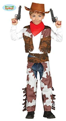 (Guirca Cowboy Kostüm für Kinder Mädchen Jungen Western Kinderkostüm Gr. 98-146, Größe:128/134)