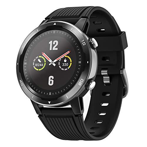 Letsfit Smartwatch GPS Sportuhr, Fitness Armbanduhr 46mm Touchscreen Laufuhr GPS Fitness Smartwatch mit Pulsmesser, GPS-Uhr mit schwimmenmodi Smart Notifications 5 ATM wasserdicht,15 Tage Akkulaufzeit