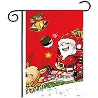 PerGrate Weihnachten Winter Schneeflocke Weihnachtsmann Schneemann Flagge Garten Flagge Indoor Outdoor Home Decor