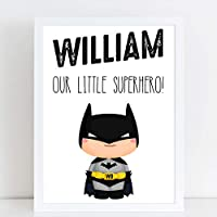 Our Little Superhero Bedroom Print/Personalised Nursery Decor A4 or A3