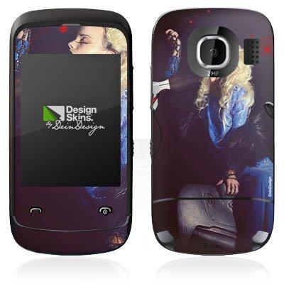 Nokia C2 C2-02 Case Skin Sticker aus Vinyl-Folie Aufkleber Frau Föhn Kamm