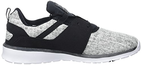 DC Shoes Heathrow Se, Baskets Basses Femme Gris (Black/Charcoal)