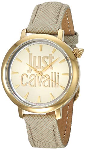 Just Cavalli Damen Analog Quarz Uhr mit Leder Armband JC1L007L0025