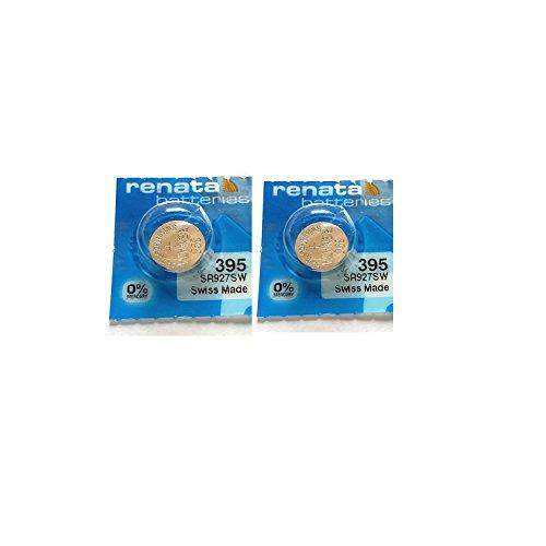 Zwei Batterie Renata für Uhren, 395 SR927SW)