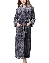 25acf0072056 Nightdress Unisex Coppia Eleganti Moda Termico Calda Uomo Autunno Pigiama  Invernali Donna Vestaglia Casuale Donne Manica