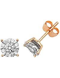 9ct Yellow Gold 0.50ct Diamond Stud Earrings