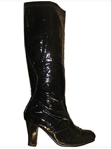 Andrea conti de bottes en cuir verni noir Noir - Noir