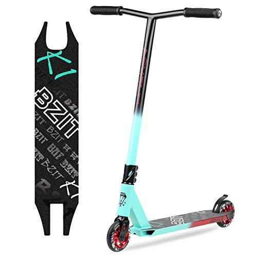 VOKUL BZIT K1 Pro Stunt Scooter - Freestyle Tretroller mit 110mm PU Wheels, Erwachsene & Kinder (Blau&Schwarz)