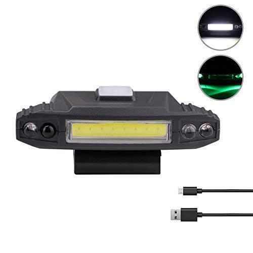 Tuipong USB-Aufladbare Clip-Cap-Lampe, COB-Hut-Clip, Hut, Taschenlampe, Stirnlampe für Outdoor-Angeln, Camping