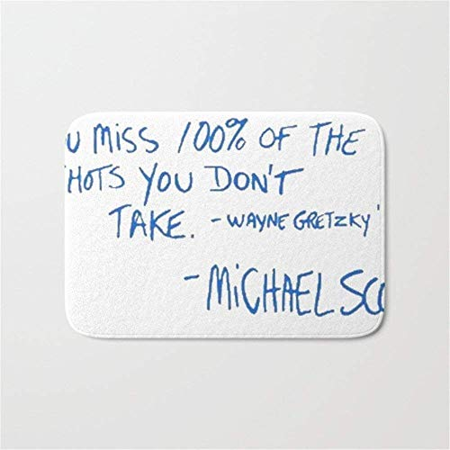 ziHeadwear Michael Scott Quote Doormat Bath Door Mat (15.7 x 23.6 Inches)