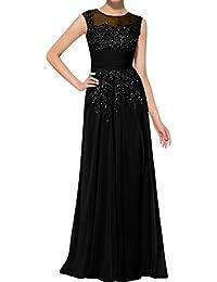 Wecharm Damen Glamour Altrosa Spitze Chiffon A-Linie Rock Abendkleider  Partykleider Brautmutterkleider Lang 9b19d06572