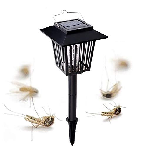 PRUNUS Luz exterior solar para el control de Mosquitos/Luz atrapa bichos - Función dual - Mata insectos...