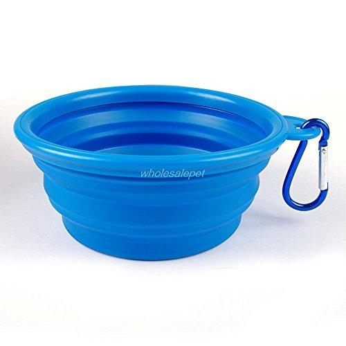 Sixmad (TM) Pet Feeding la ciotola del cane pieghevole dell'acqua del piatto del gatto alimentatore portatile del cucciolo di viaggio Bocce