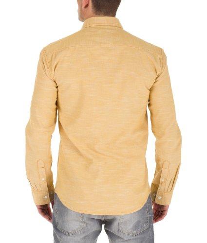 Selected Homme Herren Langarm Hemden Dean shirt ls s J Yellow