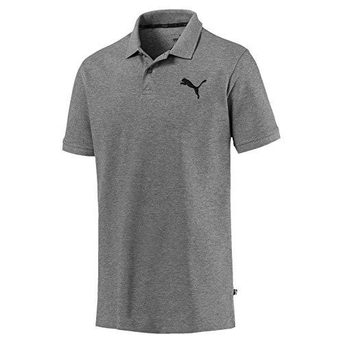 Puma Herren Essential Pique Polo T-Shirt, Medium Gray Heather-_Cat, XL - Medium Gray Heather