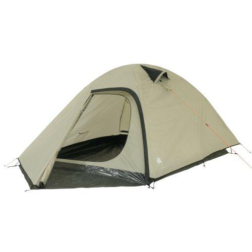 10T Silverhill 3 - 3-Personen Kuppel-Zelt mit Front Apsis und 2 Eingängen Voll-Bodenplane WS=3000mm