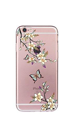 sito affidabile 01e23 e479b Custodia iPhone 8/7, Silicone Trasparente Morbida Clear Gel Cover, Ultra  Slim Antiurto Anti-Graffio Bumper Case con Disegni