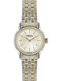 Rotary–Reloj de pulsera analógico para mujer (tamaño XS cuarzo, revestimiento de acero inoxidable LB02571/03L